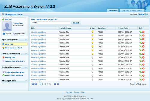ZOOLOO Information Systems Pte Ltd - Product (Assessment System)
